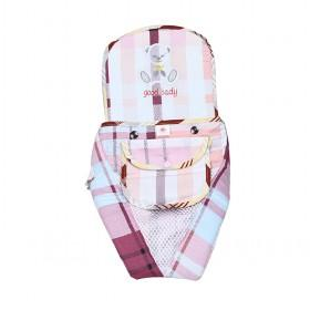 Cute Pink And Blue Plaid Octopus Baby Carriers