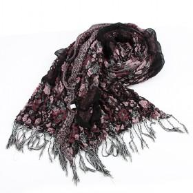 Fashion Wrinkle Scarf,floral Scarf,womens Scarf,wholesale Scarf