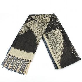 Fashion Black  Floral Cotton Scarf, Womens Scarf, Scarf ,wholesale Scarf