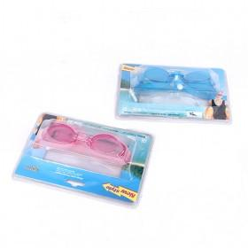 Blue And Pink Anti-fog Double Lens Swimming Goggles