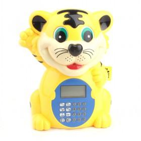 New Small Transparent Lovely Tiger Cartoon Money Box,Plastic Coin Bank YIWU