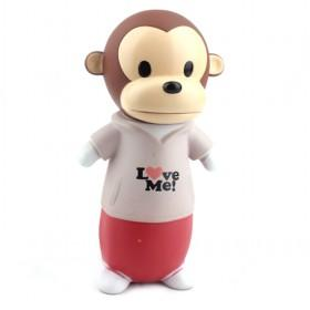 New Small Transparent Monkey Cartoon Money Box,Plastic Coin Bank YIWU