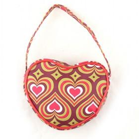 Small Heart Bags With Lovely Printing For Beauty Or Students