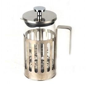 1000ml Large Volume Vertical Stripes Steel And Glass Coffee Makers/ Coffee Plunger/ Coffee Press Pot