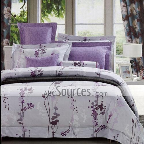 wholesale Purple Lavender Girls Countryside Stylish Printing 100 ...