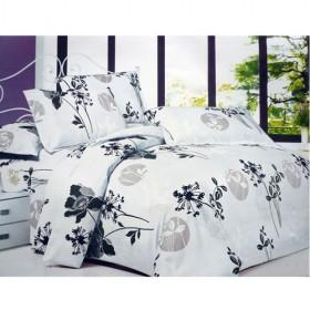Oriental Stylish Chinese Lavender Painting Printing 100% Cotton Bedding Sets