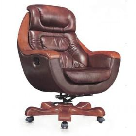 Unique Brown Lifting Swivel Stainless Steel Computer Chair/ Office Chair/ Boss  Chair ...