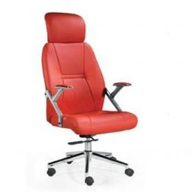 Red Leather Massage Back Stainless Steel Computer Chair/ Office Chair/ Boss Chair