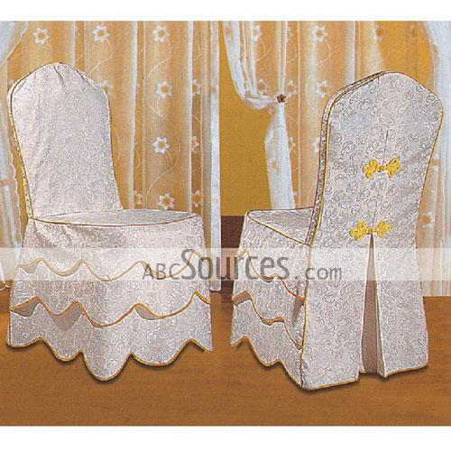 Wholesale White And Lace With Yellow Embroidery Decorative Meeting Chair Cove
