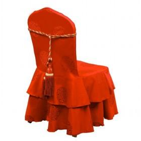 Hot Sale Graceful And Celebrative Glamorous Red Velvet Banquet Chair Covers