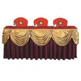Red Lxury And Celebrative Wedding-use Velvet Banquet tablecloths
