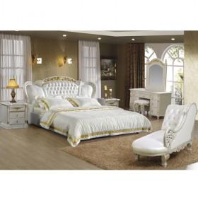 wholesale good quality white leather bedroom furniture sets