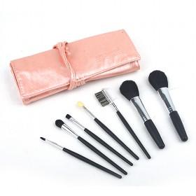 Sweet Light Pink Portable Ulstra Soft Bristle Cosmetic Eye Shadow Makeup Brush Set
