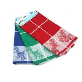 40 60cm Blue Red Green Plaid Cotton Cleaning Towel