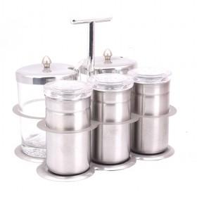 Wonderful Design 5pcs In One Set Stainless Steel Sauce Jars And Spice Bottles Set
