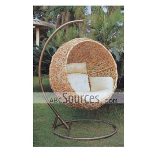 Rattan chair abc sources china wholesale for Circle swing chair