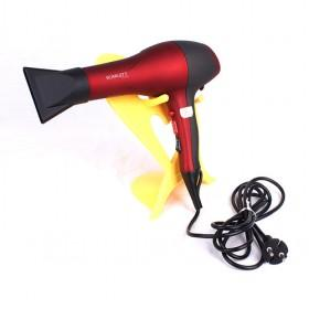 Professional Plastic Red And Black Colored Hair Dryer For Home And Salon