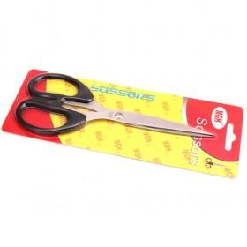 Iron Scissors With Black Shinny Handle, Sissor For Home ; Office Use