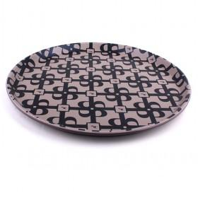 Hot Sale High Quality Plastic With PU Leather Covered Round Trays