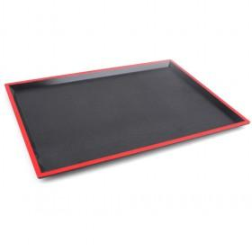 wholesale hot sale plastic black rectangle red lined serving tray for home use lc070411532. Black Bedroom Furniture Sets. Home Design Ideas