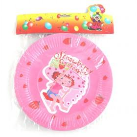 Colorful Sanitary Disposable 9 Strawberry Paper Plate