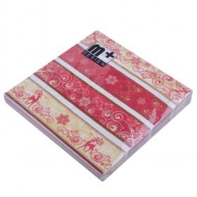 New Christmas Paper Napkin Serviettes For Christmas Party 33X33cm