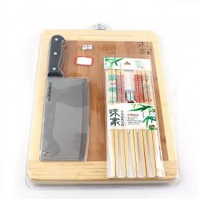 Hot Sale Square Bamboo Eco-friendly Cutting Board/Chopping Block With Knife