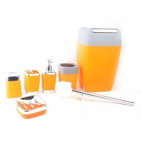 bathroom accessories set on Wholesale 6 Piece Orange Bathroom Accessory Set