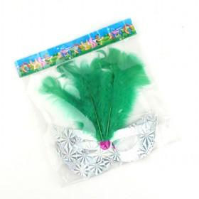 Green Feather Cat Eye Masks