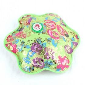 Light Green Floral Rechargeabe Electric Portable Hot Water Bag