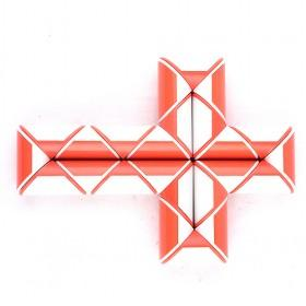 RED White Cross Cube