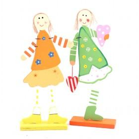 Mini Cute Sweet Colorful Girls Decorative Wooden Photo Holder
