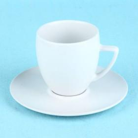 Mini Cute Plain White Color Ceramic Coffee Cup And Sauce Cup For DIY Painting