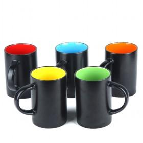 Hot Sale Black And Glamorous Collision Glaze Coffee Mugs/ Water Cups/ Discount Mugs For Promotion
