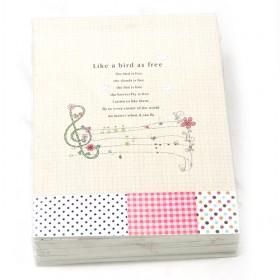 New Music 32K Diary Book,Notepad,Memo,Paper Notebook,note Book,Hand Book,fashion Gifts,260*190MM,16K60P