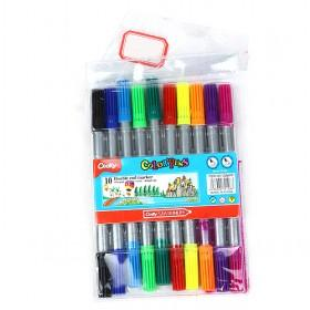 2014 New Stationery 10 Colors Multifunction Ballpoint Pen Happy Good Gift