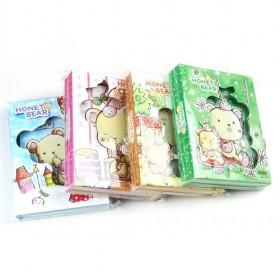 Newest Lovely Bear Password Composition Book Notebook Dairy With Coded Lock Work Book Notepad Note Book Birthday Gift 64k Password Lock Diary