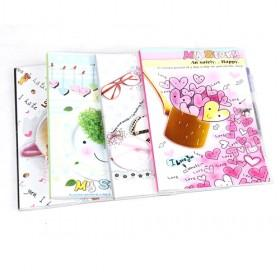 Best Selling 4 Design Notebook,Small Note Book, Wholesale Korean Design Notepad,22K