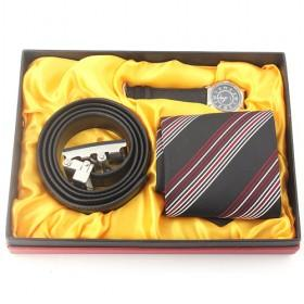 Perfect Business Gift Set Of Belt, Tie, And Watch