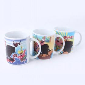 High Quality Cartoon-prints Multicolors Customized Ceramic Cup Water Mugs For Sale