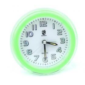 Light Green Tyre Design Plastic Mute Quartz Alarm Clock