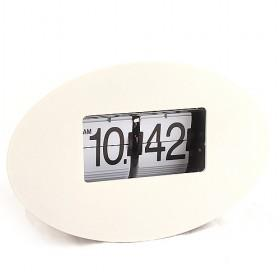 Top Quality White Egg-shape Decorative Mute Alarm Quartz Wall Clock