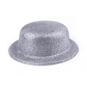 Silver Cloche Hat, Fashionable Cloche Hat
