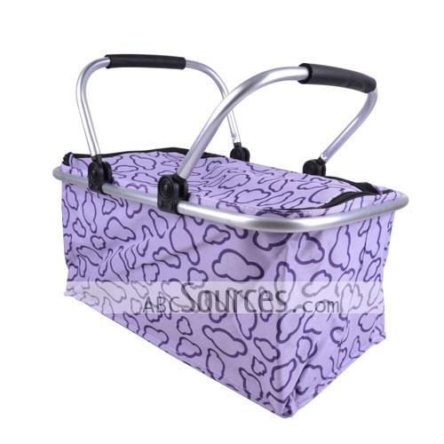 Non Woven Basket : Wholesale cute purple patterns prints non woven double