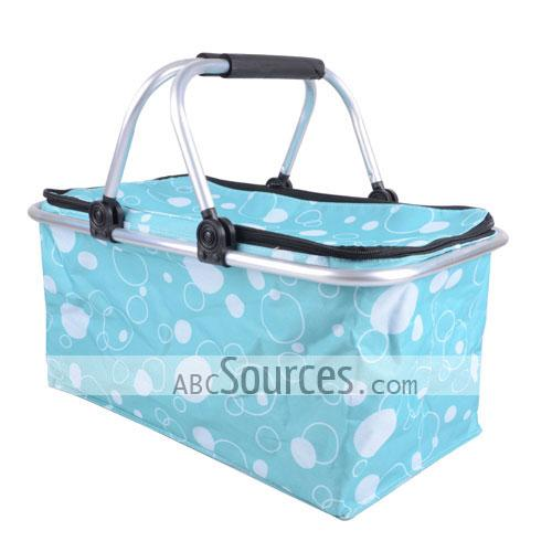 Non Woven Basket : Wholesale light blue prints non woven double aluminium