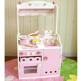 Delicated Design Pink Children Simulation Kitchen Pretend Toys With Light And Sound