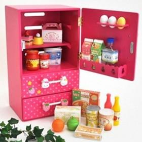 Popular White Spotted Pink Children Simulation Kitchen Pretend Toys With Light And Sound