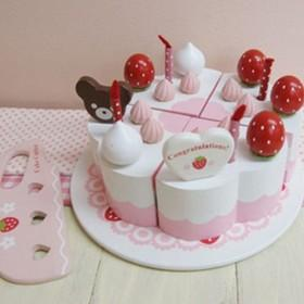 Kids Toys Simulation Pink Cake Play House
