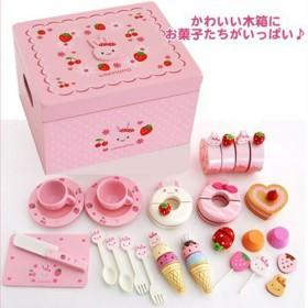High Quality Strawberry Pink Tea Set For Play House