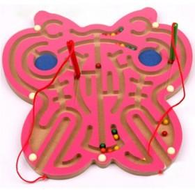 Pink Butterfly Design Magnetic Labyrinth
